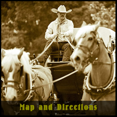 Stagecoach image and button to map and directions