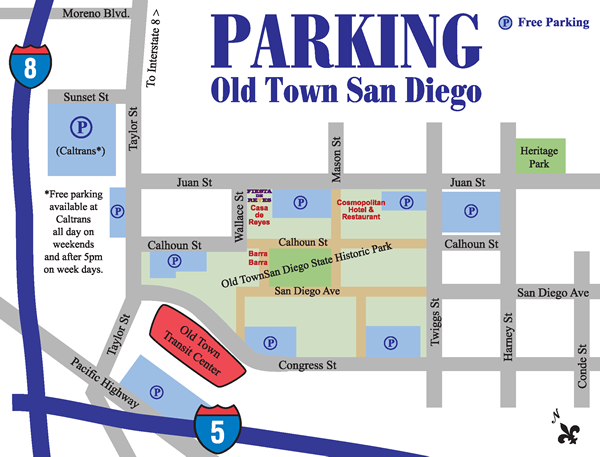 parking map and link to larger map
